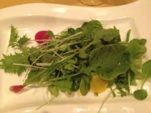 "Spring Lettuces, Broccoli, Radish, Fennel, and Yogurt, With Cultivate ""Wonderlust"" Chardonnay"